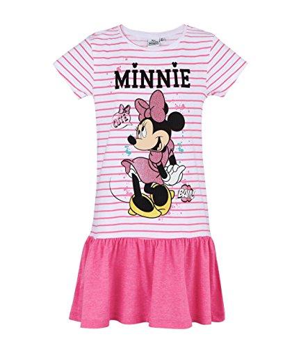 (Disney Minnie Mädchen Kleid - pink - 128)