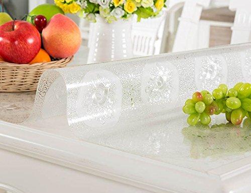 Nappes De Table en en Verre Souple De Table À Thé De en Cristal Transparente Anti-Chaude À l'huile Anti-Chaude (1.0mm) (Taille : 60 * 120cm)