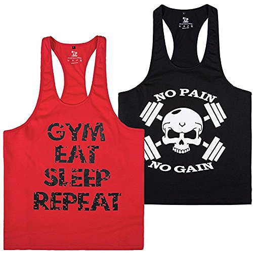 ess Herren Sport Stringer Muskelshirt Gym Tank Top Bodybuilding Muscle Shirt Achselshirt(2pack4,S) (Lustige Superman-kostüm)