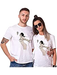 Sai Shree Couple Nightwear T Shirt | Concupiscence T Shirt for Loved Ones | Lust | Free Size White