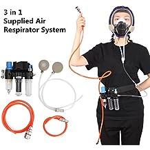 SAFETYON Sistema de Respirador de Aire Suministrado para Máscara de Gas 3M 6800 Máscara de Gas 3M 6200 Máscara de Gas SJL