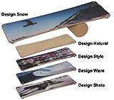 pedalo Rola-Bola Design I Natural I Style I Wave I Snow I Skate I Gleichgewichtstrainer I Balance Board I Koordination I Fun-Sport (Wave)