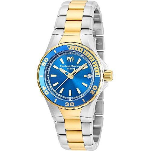 technomarine-sea-manta-femme-32mm-bicolore-quartz-montre-tm-215007