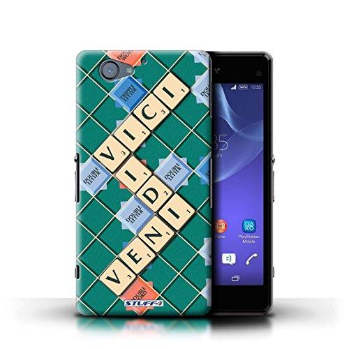Kobalt® Imprimé Etui / Coque pour Sony Xperia A2 / Coeur Chaud conception / Série Mots de Scrabble Veni Vidi Vici
