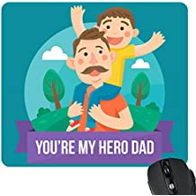 YaYa cafe Dad You are My Hero Mousepad from Son