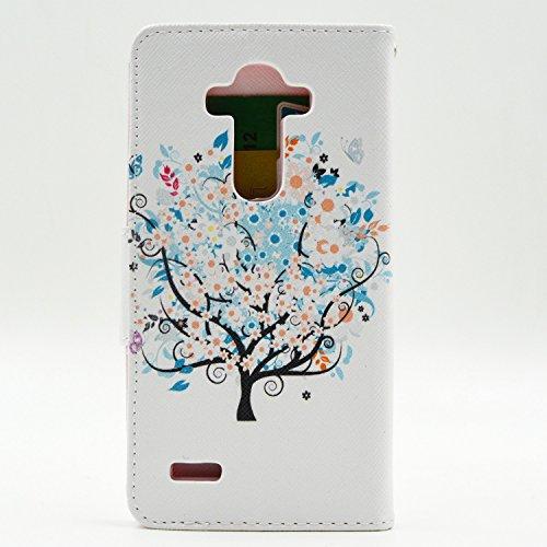 Voguecase® für Apple iPhone 5 5G 5S, Kunstleder Tasche PU Schutzhülle Tasche Leder Brieftasche Hülle Case Cover (Frühling) + Gratis Universal Eingabestift Frühling