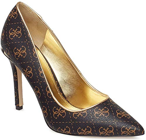 #Guess Bellam Brown Womens Hi Heels Shoes Guess High Heel Heels