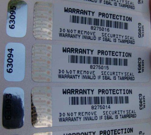 Dell-seriennummer (Sicherheitssiegel, manipulationssicher, mit Hologramm, klar, 100 Stück)