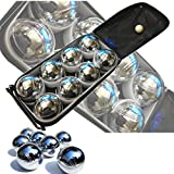 NEW 8PC X STEEL FRENCH BOULES PETANQUE BALLS JACK WITH CARRY CASE FUN PARTY PUB GARDEN LAWN GAME SET PACK OF 8 PC PIECE