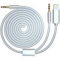 Cable AUX compatible para iPhone XS Max, HUIRID iPhone 8 iPhone 7 coche AUX Cable