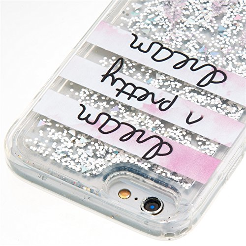 Nutbro iPhone 7 TPU Liquid Case, iPhone 7 Quicksand Case Flowing Quicksand Liquid Floating Luxury Bling Glitter Sparkle Diamond Soft Cover for iPhone 7 YB-iPhone-7-287