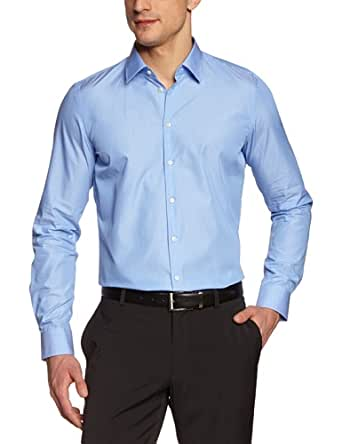 Strellson Premium Herren Businesshemd Slim Fit 11002382 / L-Quentin, Gr. 39, Blau (225)