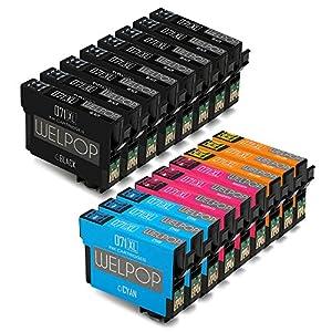 WELPOP T0715 Sostituzione per Epson T0711 T0712 T0713 T0714 Cartucce d'Inchiostro(17 Pacco)Compatibile con Epson Stylus BX300F SX100 S20 S21 SX115 SX200 SX205 SX218 SX400 SX405 DX4000 Stampante