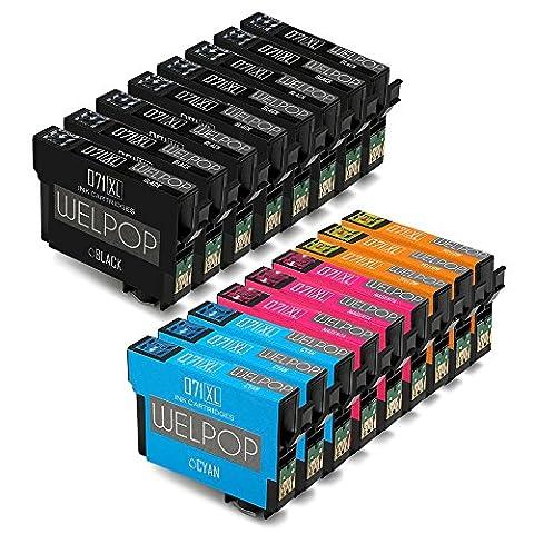WELPOP Remplacement pour Epson T0711 T0712 T0713 T0714 Cartouches d'Encre,8