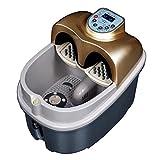 AMYMGLL Fuß-Spa-Massagegerät und Fuß-Massagegerät Zwei-in-Ein Fuß Bad Spa mit Blasen-Massage und elektrische Massage Turntable Fußmassage mit Luftdruck und Akupunktur Massage-Funktion