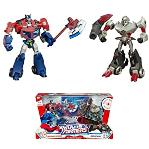 Hasbro - 834646490 - Transformers - Figurine - Robot - Animated - Coffret Megatron et Optimus avec Dvd