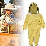 Lisay Vêtements festifs - Costume d'abeille entièrement ventilé - Accessoires d'imker/Capuche Amovible - Poignets réglables - Combinaison de vêtements - Protection des Abeilles - Automne...