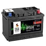 SIGA OPTILIFE Autobatterie 12V 75Ah **4 JAHRE GARANTIE** statt 70Ah 72Ah 74Ah 77Ah