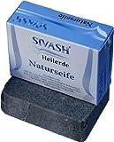 Handgemachte SIVASH-Heilerde Naturseife (Schlammseife) mit 25% an Beta-Carotin-haltigem Soleschlick, 100 g. Milde Pflege auch bei unreiner Haut, Akne, Pickeln, Psoriasis, Neurodermitis