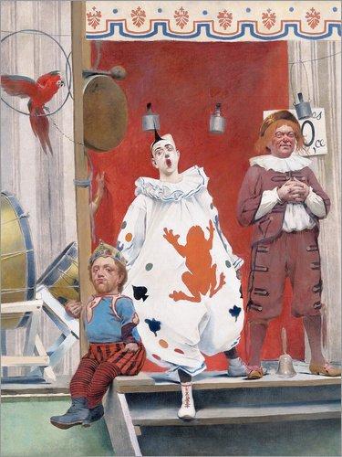 cm: Grimaces et misères les Saltimbanques (Detail) von Fernand Pelez - fertiges Wandbild, Bild auf Keilrahmen, Fertigbild auf echter Leinwand, Leinwanddruck (Zwerg Kostüm Bilder)
