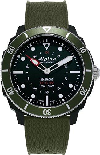 Alpina Watch AL-282LBGR4V6 Nero, Verde smartwatch