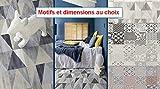 MadeInNature Tapis PVC Carreaux Ciment/Tapis en PVC différentes Tailles/Vinyle idéal Style suédois/Tapis de Passage Devant évier/Recouvrement de Sol