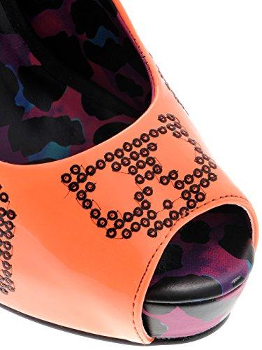 Iron Fist  Sugar Hiccup Peep Toe Platform, Peep-Toe femme Orange - Neon Coral