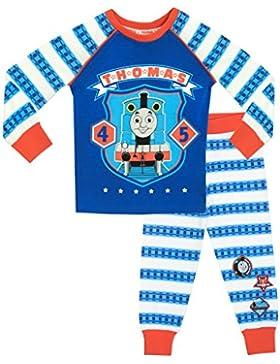 Thomas y sus amigos - Pijama para Niños - Thomas the Tank - Ajuste Ceñido