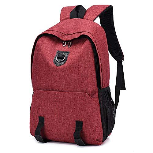 DLwbdx Rucksack für Herren, High School Student Bag Rucksack für Laptop, große Kapazität, Geschäftsreisen Weinrot -