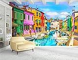 MYLOOO Fotomurales Venecia, Italia, Vista A La Calle De La Ciudad Murales De Pared Papel Pintadopapel De Pared Dormitorios/Salón/Hotel/Fondo De TV
