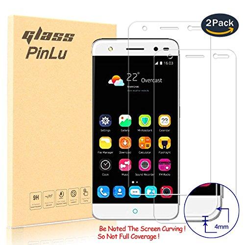 [2 Pack] pinlu® Panzerglas Bildschirmschutzfolie für ZTE Blade V7 Lite (5.0zoll) Transparent Glasfolie Protector 9H Härtegrad Schutzglas,99prozent Transparenz,Einfaches Anbringen,3D Touch Kompatibel