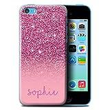 Stuff4 Personnalisé Effet Paillettes Coutume Coque pour Apple iPhone 5C/Rose...