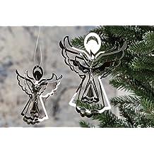 Anhänger Engel Herz rot Deko Blech Weihnachten Winter Wichtel Neu