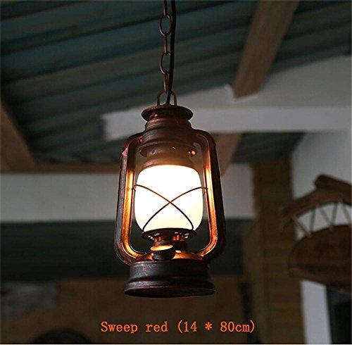 LILSN-Retro Vintage Petroleumlampe Laterne chinesische alte klassische antike Bar Cafe Terrasse Tisch schmiedeeiserne Kronleuchter