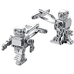 Gemelo de metal con robot