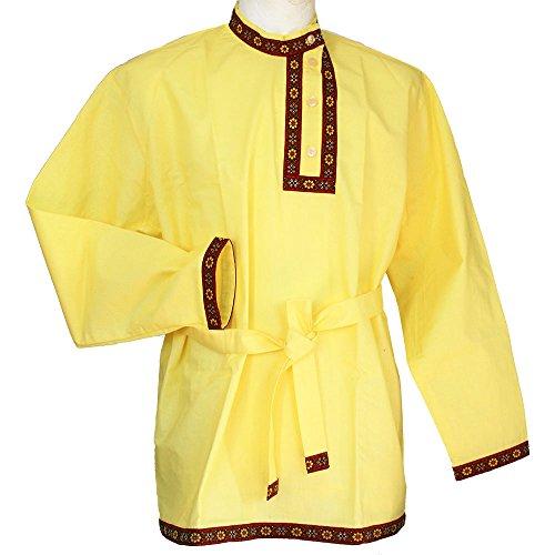 Russisches Hemd 'Kosakenhemd' Gelb (L)