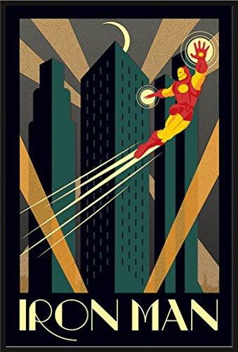 Marvel - Deco - Iron Man - Comic Poster - Größe 61x91,5 cm + Wechselrahmen, Shinsuke® Maxi Kunststoff schwarz, Acryl-Scheibe