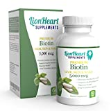 NUMBER 1 RATED BIOTIN 5000 MCG, Fast HAIR GROWTH for Women Suffering from Hair Loss, Repair Scalp Quick in 30 days have Healthy Sexy Hair, Glowing Skin and Stronger Nails, 60 Veggie Capsules