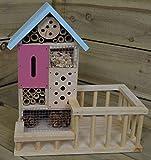 In legno 6Room/Bug insetto hotel casa per giardino con tetto blu
