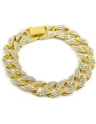 LUFA Hommes Bracelet en cristal argenté en or Accessoires masculins Bracelet en or