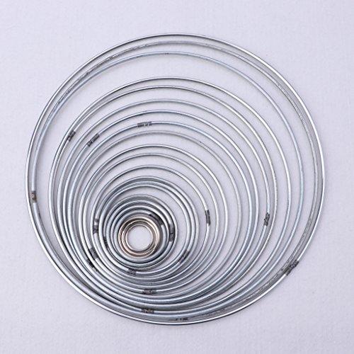 Dabixx 22 Teile/Satz Metall Hoop Dreamcatcher Ring Wandbehang Makramee Handwerk Hause DIY Dekor 18mm-200mm -