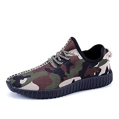 Baskets en maille de camouflage pour hommes / garçons chaussures de sport décontractées d'été et d'automne respirant et léger , camouflage , 39