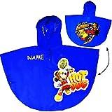 Unbekannt Regencape / Regenponcho -  Disney - Mickey Mouse - BLAU  - Gr. 110 - 116 - 122 - Circa 4 bis 6 Jahre - für Kinder - Mädchen & Jungen / Regenjacke / Regenman..