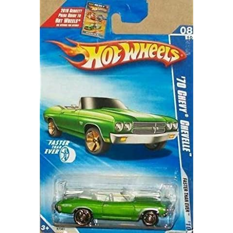 Hot Wheels '70 Chevy Chevelle 08/10, Faster Than Ever, 1:64 Scale. by Mattel - 70 Chevy Chevelle