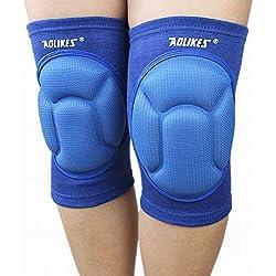 Dehang - Rodillera Soporte Protección Protector Deportiva Ajustable de Rodilla para Gimnasio Fútbol Baloncesto Fitness - Azul