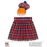 Lively Moments Kostümset / Kostümzubehör Schottischer Kilt und Hut mit Haar / Schottenkostüm