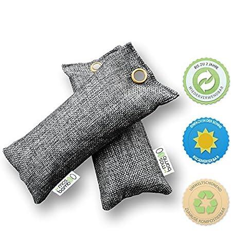 Schuh-Erfrischer »freShoes 2x75g« aus Bambus Aktivkohle   Natürlicher Raumerfrischer & Luftentfeuchter   Geruchsneutralisierer & Luftreiniger Beutel für Auto, Küche, Bad, Schlafzimmer, Kleider-Schrank, Kühlschrank   Gegen Geruch ohne Duftstoffe oder Chemie   Biologischer Geruchskiller & Geruchsentferner Alternative zu Raumduft, Granulat- oder Ozon-Reiniger gegen Schimmel-Sporen, Pilze, Bakterien &