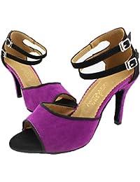 SWDZM Mujer Zapatos de baile/estándar de Zapatos de baile latino Ballroom modelo-ES-511 Marrón 36.5 EU oztzTLSxCS