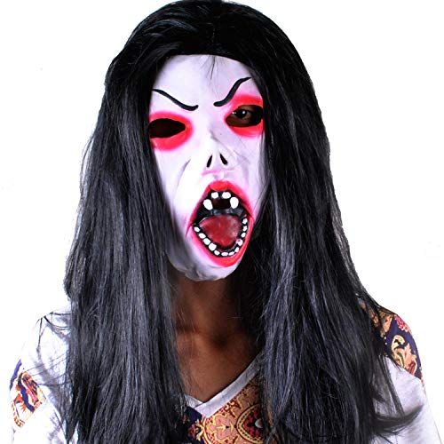 Dance Kostüm Doll - fsffjc Halloween Bar Dance Party Terrorist Kopfbedeckung Geistermaske Chakit Doll Scary Mask