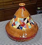 Tajin , Para cocinar al estilo Árabe. Hecho y esmatado a mano. Decorado al estilo de Gaudi, Trencadis.30cm de ancho x 36 cm de alto. Apto para vitrocerámica y cocina...
